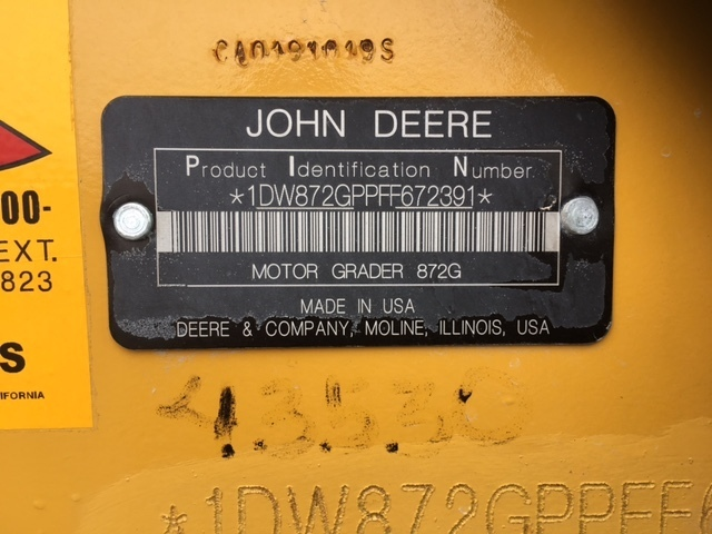 John Deere 872GP